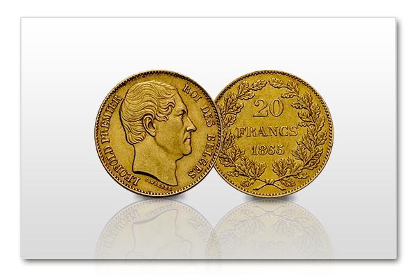 20-francs-Koning-Leopold-I-België