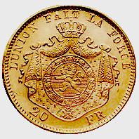20-francs-belgie-leopold-II-achterzijde