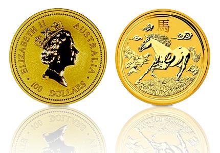 Gouden Lunar 100 Dollar 1 Troy ounce