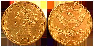 Coronet-Head-10-dollar-gold-amerika