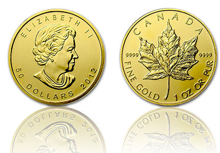 Gouden Maple Leaf 50 Dollar 1 Troy ounce