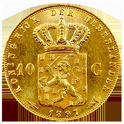 Gouden-tien-gulden-wilhelmina-loshangend-haar-nederland