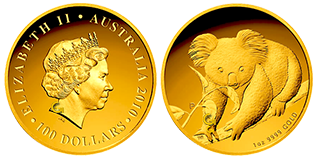 golden-koala-australie-100-dollars