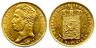 gouden-10-gulden-willem-I-nederland