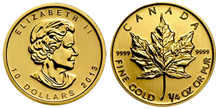 gouden-maple-leaf-10-dollar-1-4-oz-canada