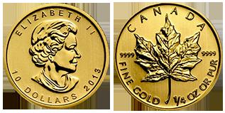gouden-maple-leaf-10-dollar-1-4-oz-canada
