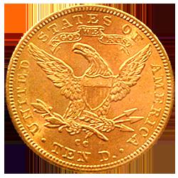 gouden-tien-dollar-coronet-head-amerika