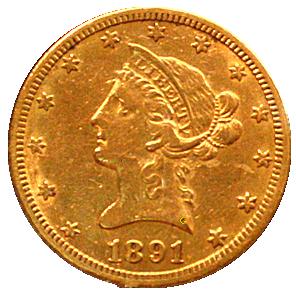 gouden-tien-dollar-coronet-head