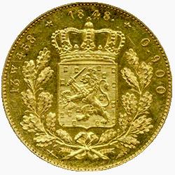 koning-willem-II-dubbele-negotiepenning-nederland