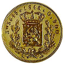 koning-willem-II-halve-negotiepenning-nederland