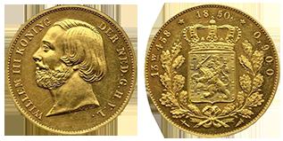 koning-willem-III-dubbele-negotiepenning-nederland