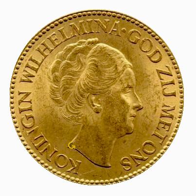 koningin-wilhelmina-10-gulden-opgestoken-haar