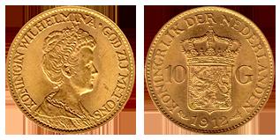 koningin-wilhelmina-gouden-10-gulden-hermelijnen-mantel