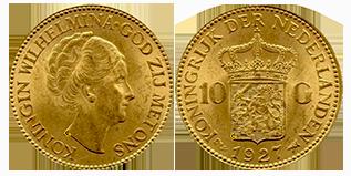 koningin-wilhelmina-gouden-10-gulden-opgestoken-haar