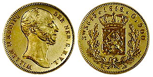 willem-II-gouden-halve-negotiepenning-Nederland