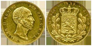 willem-II-gouden-dubbele-negotiepenning-Nederland