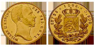 willem-II-gouden--negotiepenning-Nederland