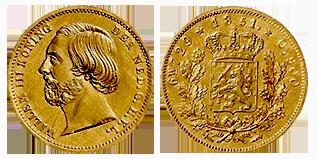 willem-III-gouden--negotiepenning-Nederland