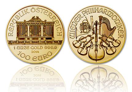 Gouden Wiener Philharmoniker 100 Euro 1 Troy ounce
