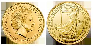 goud-100-pounds-groot-brittanie
