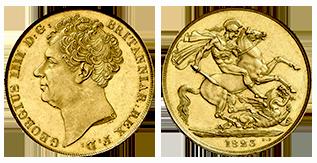 gouden-2-pond-george-IV-Groot-Brittannië