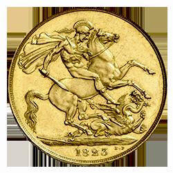 gouden-2-pond-george-IV-groot-brittanie