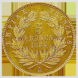 gouden-5-frank-napoleon-III-frankrijk