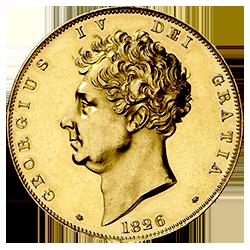 gouden-5-pond-george-IV-Groot-Brittannië