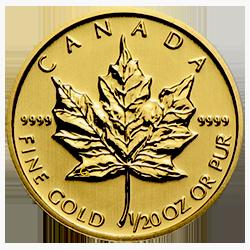 gouden-maple-leaf-1-dollar-1-20-oz-voorzijde
