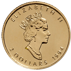gouden-maple-leaf-2-dollar-1-15-oz-voorzijde