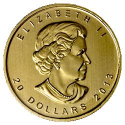 gouden-maple-leaf-20-dollar-1-2-oz-voorzijde