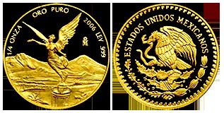 gouden-quarter-onza-1-4-OZ-mexico
