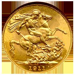 sovereign-george-V-achterzijde