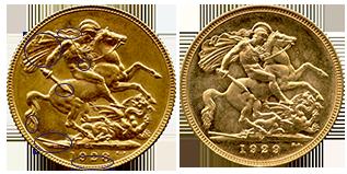 verschillen-keerzijde-gouden-sovereign-george-V