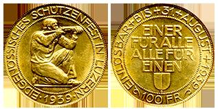 gouden-100-francs-knielende-soldaat-zwitserland
