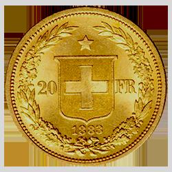 gouden-20-francs-zwitserland-type-I-keerzijde