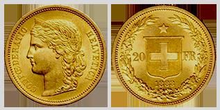 gouden-20-francs-zwitserland-type-I