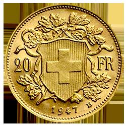 gouden-20-francs-zwitserland-type-II-vrenelli-keerzijde