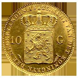 willem-1-10-gulden-fakkel-keerzijde