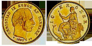 gouden-10-kronen-Christian-IX-denemarken