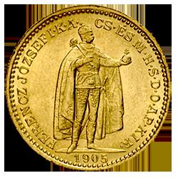 gouden-20-korona-voorzijde
