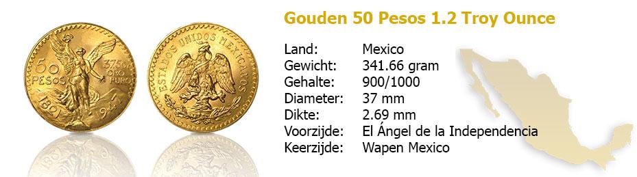 Golden 50-pesos 1.2 OZ