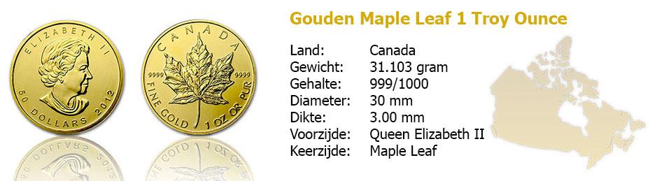 Golden Maple Leaf 1 OZ