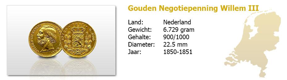 Gouden-Negotiepenning-Willem-III-1850-1851