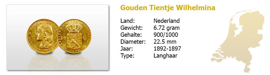 Gouden-Tientje-Wilhelmina-Langhaar-1892-1897