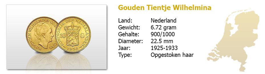 Gouden-Tientje-Wilhelmina-opgestoken-haar-1925-1933