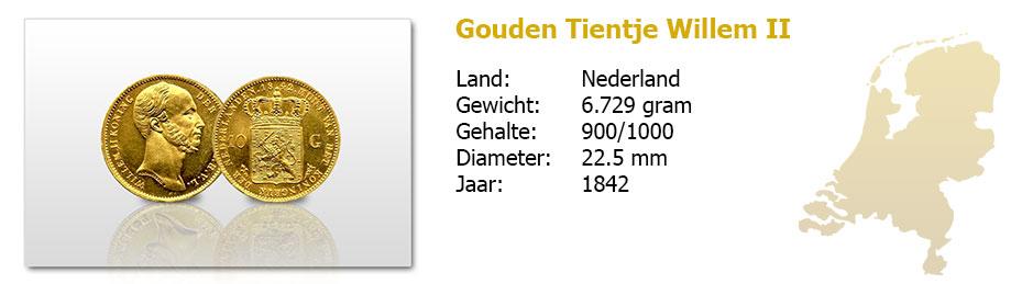 Gouden-Tientje-Willem-II-1842