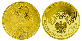 Gouden 500 zlotych 1 oz euro 2012